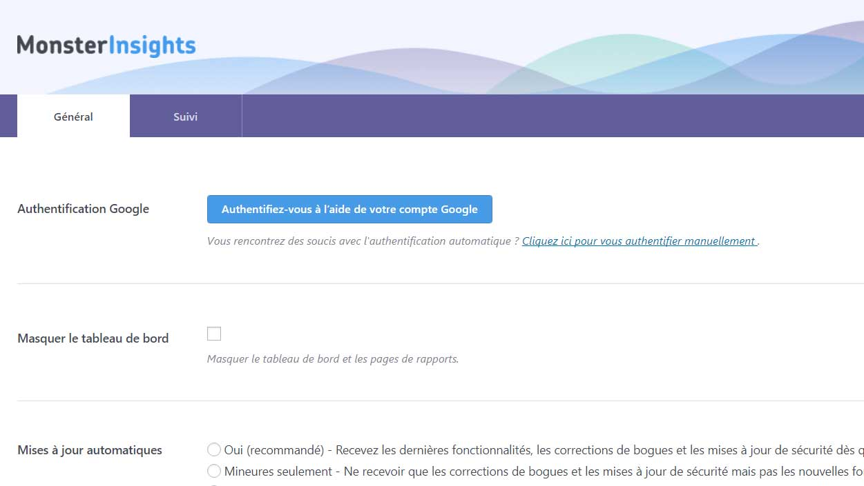Google analytics pour votre WordPress