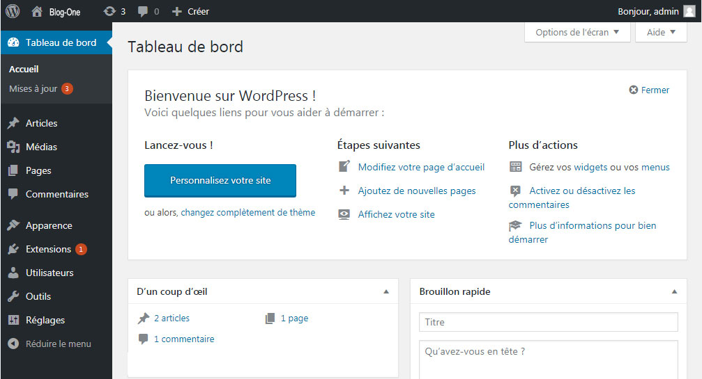 Créer son blog wordpress - Blog-One SEO Pau